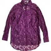 Pierre Balmain Purple Lace Top for Women