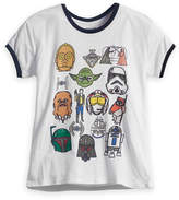 Disney Star Wars Marker Heads Ringer T-Shirt for Women by Mighty Fine