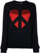 Love Moschino embroidered logo sweatshirt - women - Cotton/Polyester - 44