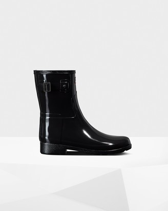 Hunter Women's Refined Slim Fit Short Gloss Rain Boot