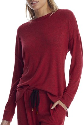 Donna Karan Red Storm Knit Lounge Top