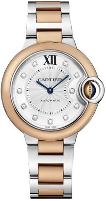 Cartier Ballon Bleu de Diamond, 18K Rose Gold & Stainless Steel Bracelet Watch