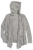 Soprano Girl's Hooded Rib Knit Cardigan