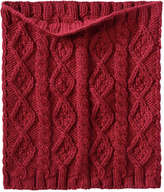 Joe Fresh Women's Cable Knit Circle Scarf, Black (Size O/S)