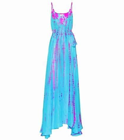 Anna Kosturova Silk wrap dress