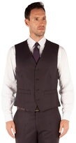 J By Jasper Conran Aubergine Flannel 4 Button Front Tailored Fit Suit Waistcoat