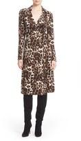Diane von Furstenberg Women's 'Cybil' Leopard Print Silk Wrap Dress