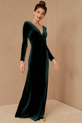 Jenny Yoo Ryland Velvet Dress By in Green Size 0