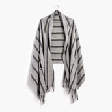 Madewell Cape Scarf in Vertical Stripe