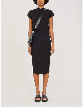 James Perse Elasticated-waist stretch-cotton dress