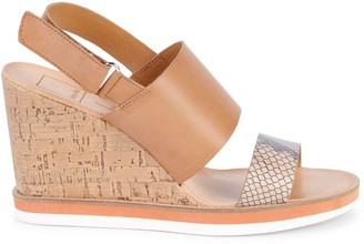 Dolce Vita Lily Cork Wedge Slingback Sandals