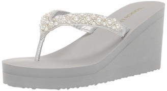 Touch Ups Women's Shelly Wedge Sandal Silver 8 M US