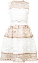 Alexis cutout embroidery dress - women - Polyester/Spandex/Elastane - L