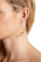 Rebecca Minkoff Gemstone Hard Wire Threader Earrings