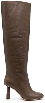 REJINA PYO Round-Toe Knee-Length Boots