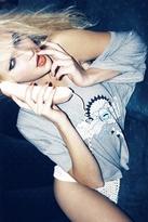 Wildfox Couture Desert Sky Harley Wide Tee in Heather Grey