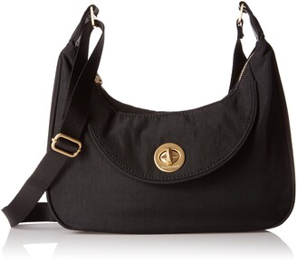 Baggallini Women's Oslo Small Hobo - Gold Hardware Shoulder Handbag