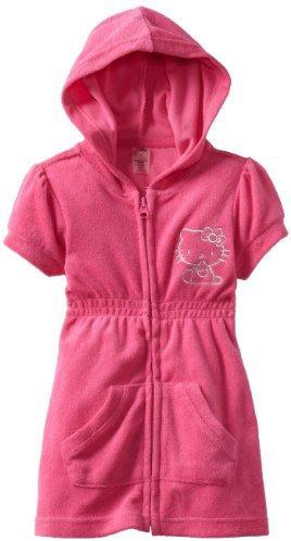 Hello Kitty Girls 2-6X Terry Hoodie Zipper Cover Up