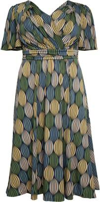 Evans **J By Jolie Green Geometric Midi Dress