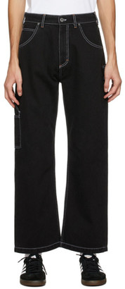 Rassvet Black Contrast Stitch Work Jeans
