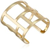 French Connection Gold-Tone Cutout Cuff Bracelet
