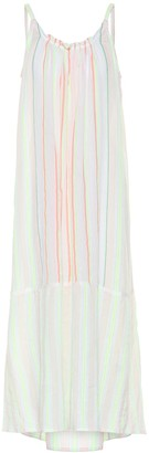 Lemlem Selata striped cotton-blend dress