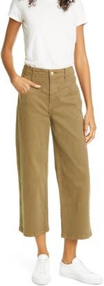 Frame Ali V-Yoke High Waist Crop Wide Leg Jeans