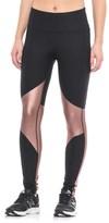 90 Degree by Reflex Metallic Mesh Fitness Leggings (For Women)