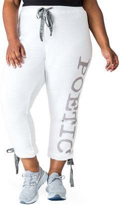 Poetic Justice Jackee French Terry Ankle Crop Sweatpants (Plus Size)