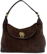 Lilly Pulitzer Brown Suede & Patent Leather Bag