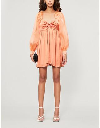 Vanessa Cocchiaro Frilled silk-woven mini dress