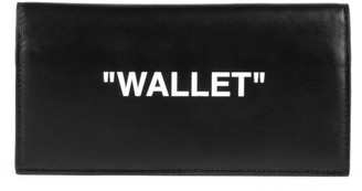 Off-White Off White Quote Yen Leather Wallet