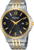 Pulsar Mens Two-Tone Stainless Steel Watch PH9076