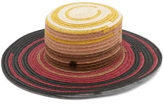 Maison Michel Lana Striped Hemp-straw Hat - Multi