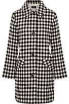 A.P.C. Checked Wool-Blend Felt Coat