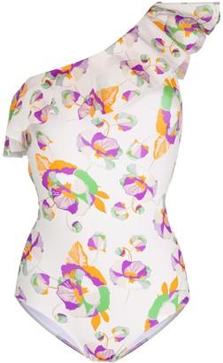 Isabel Marant Floral Ruffle Swimsuit
