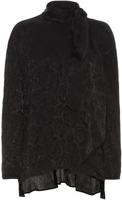 Chloé Silk-blend floral jacquard blouse