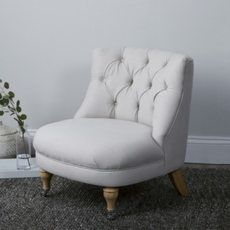 The White Company Clearance Richmond Cotton Tub Chair, Silver Cotton, One Size