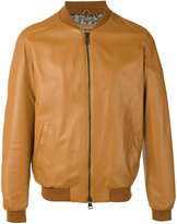Etro leather bomber jacket - men - Silk/Cotton/Sheep Skin/Shearling/Cupro - L