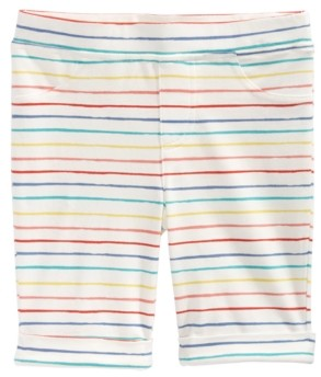 Epic Threads Little Girls Rainbow Striped Bermuda Shorts, Created for Macy's