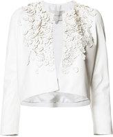 Carolina Herrera floral embellished cropped jacket