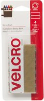 Velcro 90077 3/4-InchX3-1/2-Inch Sticky Back Tape, 4-Pack