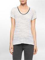 Calvin Klein Space Dye Short Sleeve Top