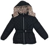 Pink Platinum Baby Girl Heavyweight Hooded Quilted Jacket