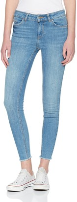 Pieces Women's Pcfive Delly B186 Mw Skn Cr JNS Lb/noos Skinny Jeans
