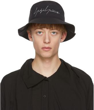 Yohji Yamamoto Black Gore-Tex Logo Bucket Hat