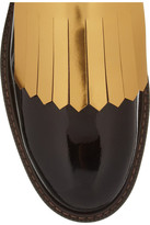 Marni Fringed patent-leather brogues