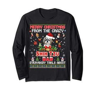 Shih Merry Christmas From The Tzu Dog Dad Everybody Talks Long Sleeve T-Shirt