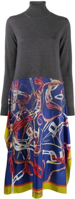 Maison Margiela Scarf-Skirt Jumper Dress