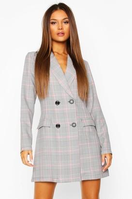 boohoo Check Tailored Blazer Dress
